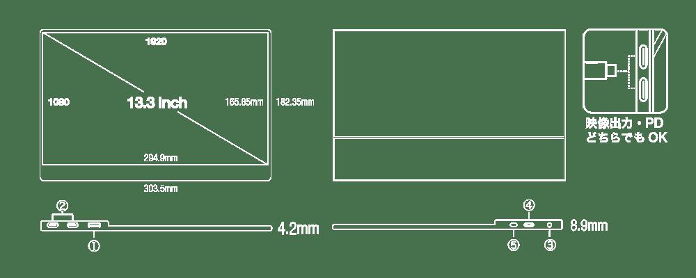 UQ-PM13FHDNTポート
