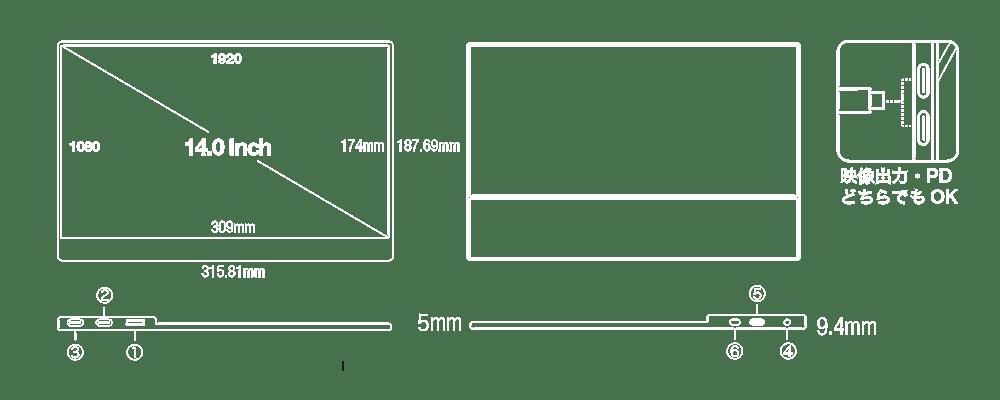 UQ-PM14FHDNTポート説明
