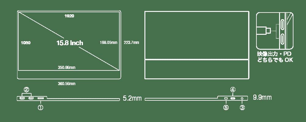 UQ-PM158FHDNTポート