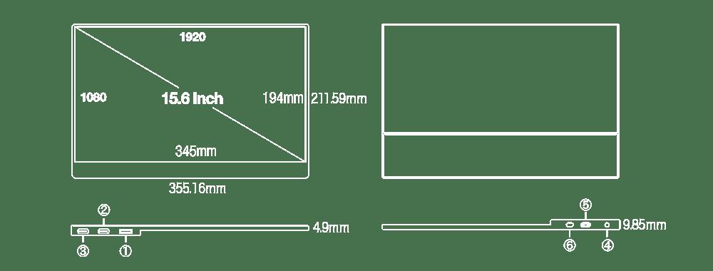 UQ-PM15FHDポート説明